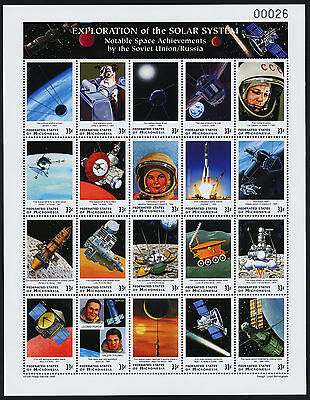 Micronesia 334 MNH Exploration of the Solar System, Satellites, Space Craft