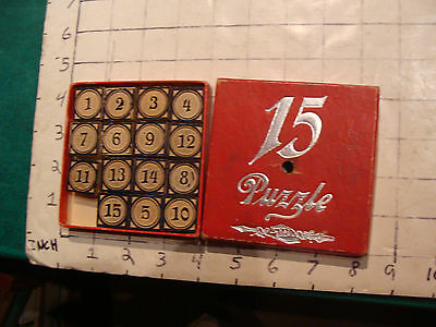 Vintage game/puzzle: 15 puzzle from SPEAR'S GAMES complete in box, early