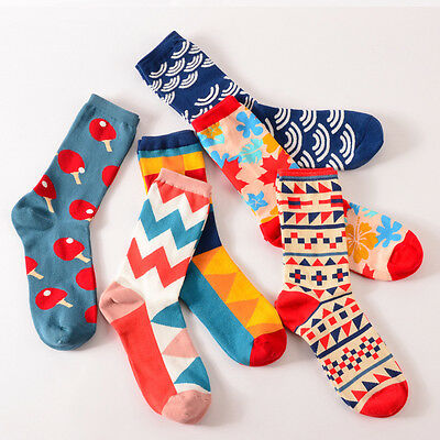 Fashion Casual Cotton Blend Socks Multi-Color Fashion Dress Men's Women's Socks