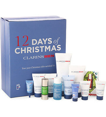 CLARINS MEN, 12 Days of Christmas Skin Survival Kit Advent Calendar Gift Set