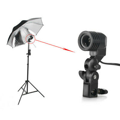 Photo Studio E27 Socket Lamp Bulb Holder Photography Umbrella Mount Adapter