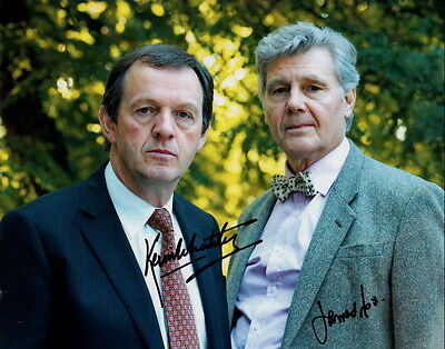 KEVIN WHATELY & JAMES FOX ~ INSPECTOR LEWIS ~ SIGNED 10x8 PHOTO COA