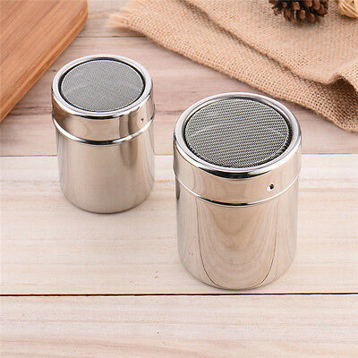 Stainless Chocolate Shaker Cocoa Flour Sugar Powder Coffee Sifter Lid