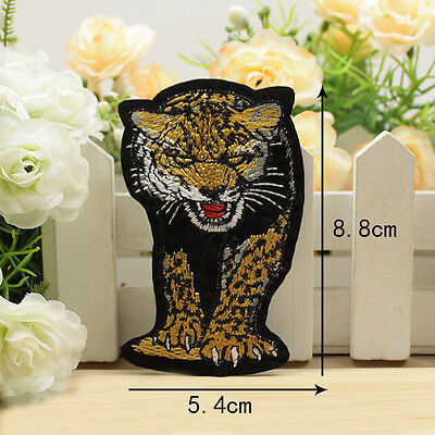 Embroidered Sew Iron On Patch Badge Tiger Cloth Bag Applique Sew Fabric DIY