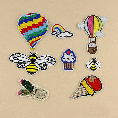 1pc Embroidered Sew Iron on Patch Badge Hornet Balloon Cloth Bag Fabric Applique