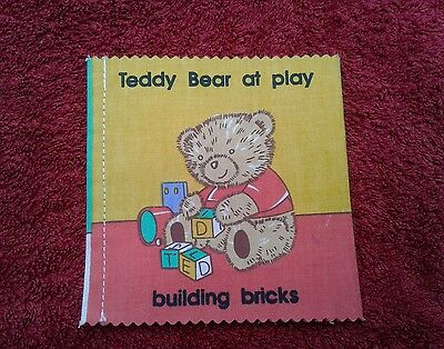 TEDDY BEAR AT PLAY - DEAN'S RAG BOOK CO c1980s - LOVELY CONDITION