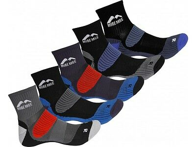 More Mile Cheviot Sports Trail Running Cycling Socks 5 PAIR PACK