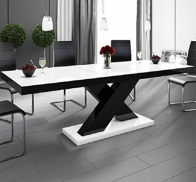 Table Dining Tabel HIGH GLOSS acrylic laquer width up to 210 cm 5 COLOURS