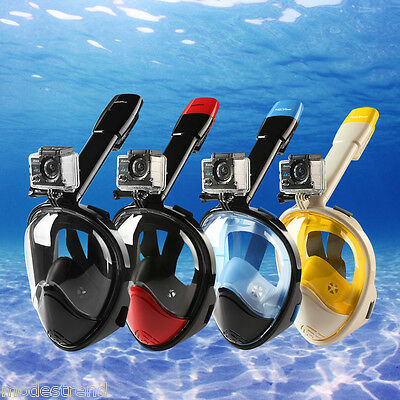 Full Face Snorkeling Mask Scuba Diving Snorkel Set Goggles For GoPro Breath Swim