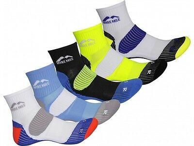 More Mile London Mens Cushioned Sports / Running Socks 5 PAIR PACK
