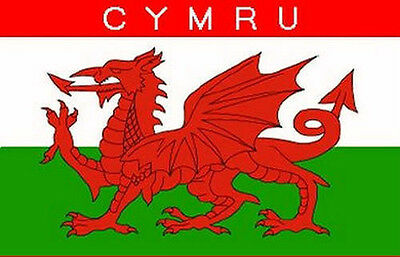 Wales Cymru Flag Large 5 x 3 FT - 100% Polyester With Eyelets - Welsh Dragon