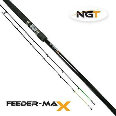 NGT Feeder Max 10ft 2pc + 2 Tip Feeder Fishing Rod