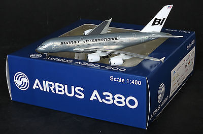 "Braniff A380 Reg:N3804BN Special "" Silver "" Jet-X  Diecast models Scale 1:400"