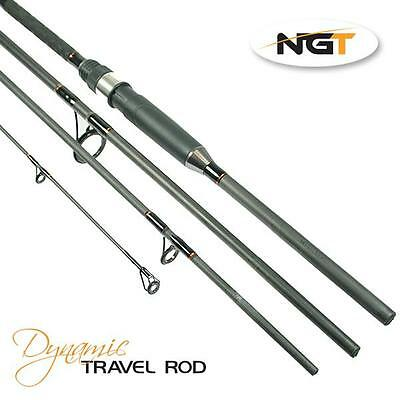 NGT Dynamic Travel Fishing Rod 9ft, 4pc Carbon All Round Travel Rod