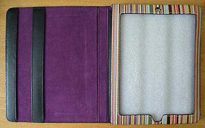 PAUL SMITH Signature Stripe black leather iPad tablet A Frame case cover holder