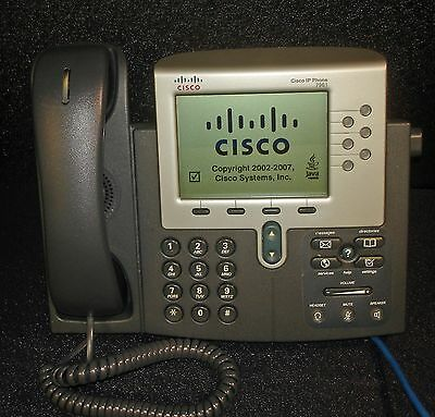 Cisco CP-7961G 7961 IP Office Phone VoIP LCD Telephone