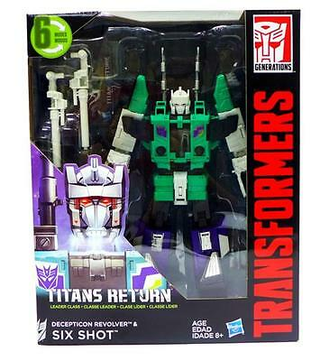 NEW Transformers Titans Return Leader Class SixShot Action Figure in Stock