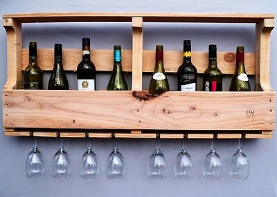 Handcrafted Reclaimed Pallet Wall Mounted Wine Rack Various Sizes And Colours