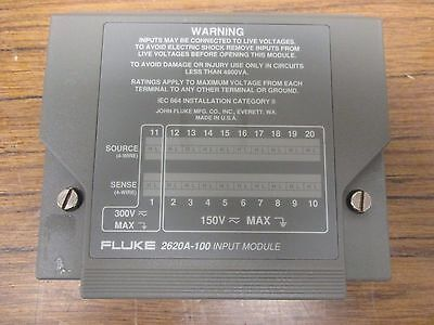 Fluke 2620A-100 INPUT MODULE for 2620A,2635A,2640A,2645A Data Logger