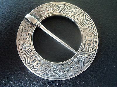 Scottish Stg. Silver Iona Marriage Brooch -  Alexander Ritchie h/m 1933 Glasgow