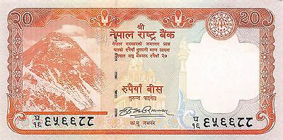 Nepal 20 Rupees ND. 2008 P 62   Uncirculated Banknote , G5