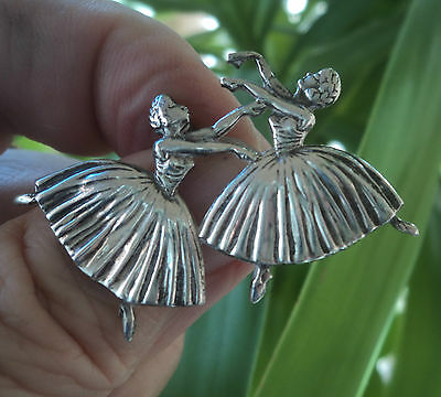 Sterling Silver Ballet / Ballerina Dancer Brooch 1940s  Massingham / Phillips