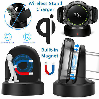 QI Wireless Charging Dock Charger Stand Cradle for Samsung Galaxy Gear S3 S2
