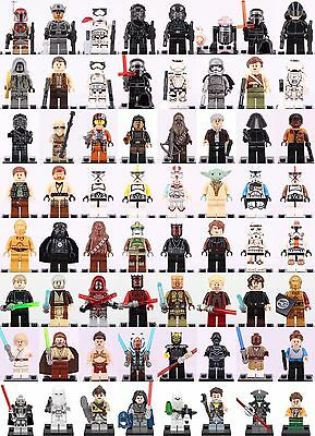 64Pcs All in one set Starwars superheroes all Characters Minifigures Fit Lego