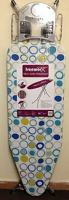 New Extra Large Wide Light Weight Steel Ironing Board 126cm x 45cm best deal