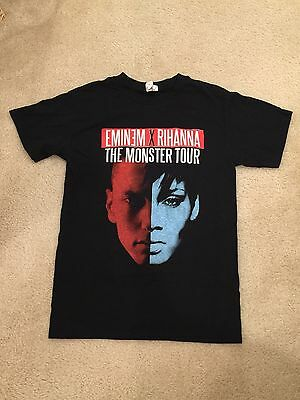 Eminem Rihanna Concert Adult Small T-Shirt The Monster Tour 2014 Concert