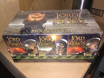 LORD OF THE Rings Mount Doom  Starter Deck Box CCG Factory Sealed Look