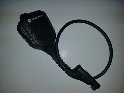 "Motorola IMPRES Public Safety Microphone w RX Jack 18"" Cable Model PMMN4059A OEM"