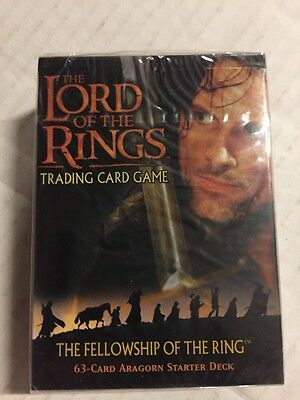 LORD OF THE Rings Fellowship Of The Ring Aragorn Starter Deck Factory Sealed