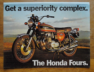 "1973 Honda Fours Vintage Ad ""Superiority Complex"" - CB750 - K3 - 750 Four"