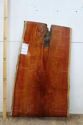 4080a8 Padauk Exotic Live Edge Wood Slab Dining Table Top Headboard Desk Counter