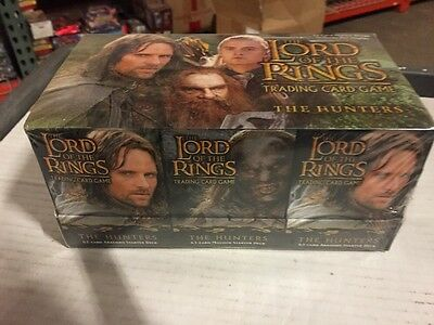 LORD OF THE Rings The Hunters  Starter Deck Box CCG Factory Sealed