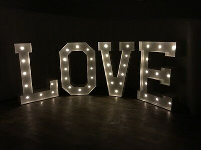 Giant 4ft LED Love Letter Hire North West - Wedding, Party