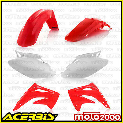 Kit Plastiche Carene Carenature Acerbis Rosse Per Honda Cr 125 250 R 2002 2003