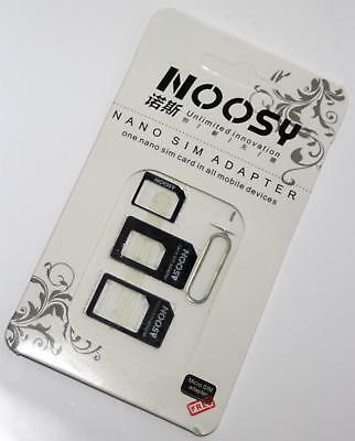 4 in 1 Nano Micro Sim Karten Set iPhone 4 5 6 Samsung HTC Sony Universal Adapter
