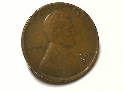 USA 1931-S Lincoln Wheat Cent Key Date And Mint Mark