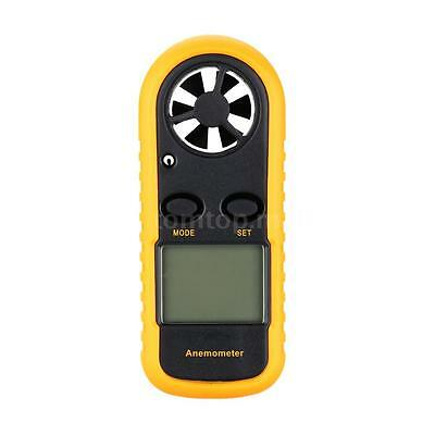 Portable Digital Wind Speed Gauge Meter Anemometer Thermometer Data Hold Q3I9