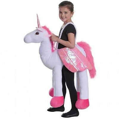 GIRLS STEP IN UNICORN Fancy Dress Costume Kids Childs Stand Riding Outfit