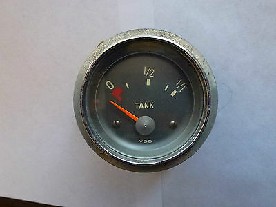 Vdo German Classic Fuel Gauge With Grey Background And Chrome Trim