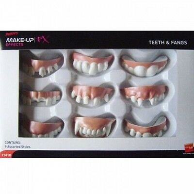 FALSE TEETH AND FANGS Vampire Old Missing Fancy Dress Costume Outfit Accessory