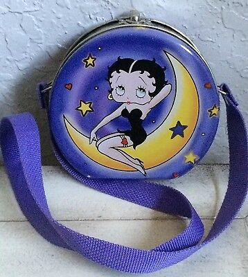 Betty Boop & Pudgy Metal Tin Purse Case Lunch Box with Strap Carrier 2001 EUC!