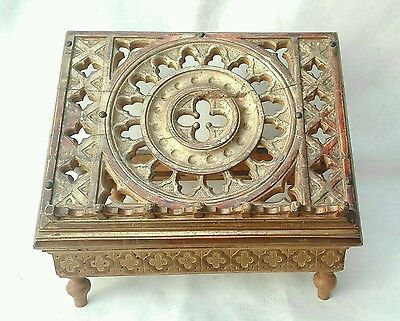 Rare Antique Italian Gothic Music Book Stand Lectern Giltwood carved 17th 18th