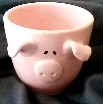 Our Name is Mud© LORRIE VEASEY Pig Mug/Cup w/ ears snout pink animal collectible