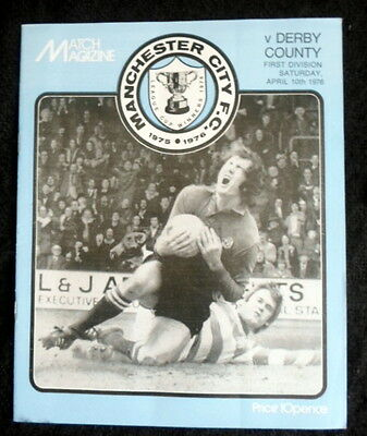 Manchester City v Derby County        10-4-1976    with token