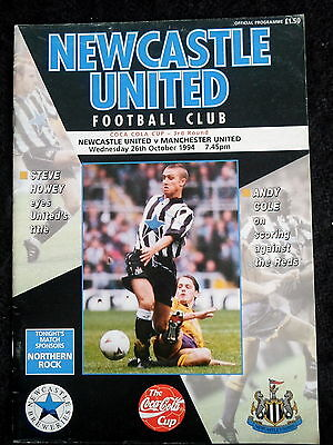 Newcastle United v Manchester  United   coca cola cup  3rd  round  26-10-1994
