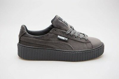 $139.99 Puma x Fenty By Rihanna Women Creeper Velvet gray glacier 364466-03